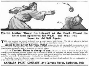 Carrara Paint Company advertisement