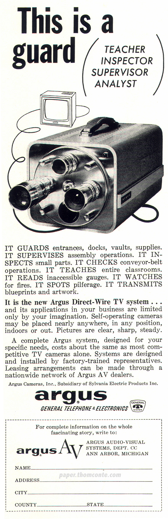 Argus General Telephone & Electronics
