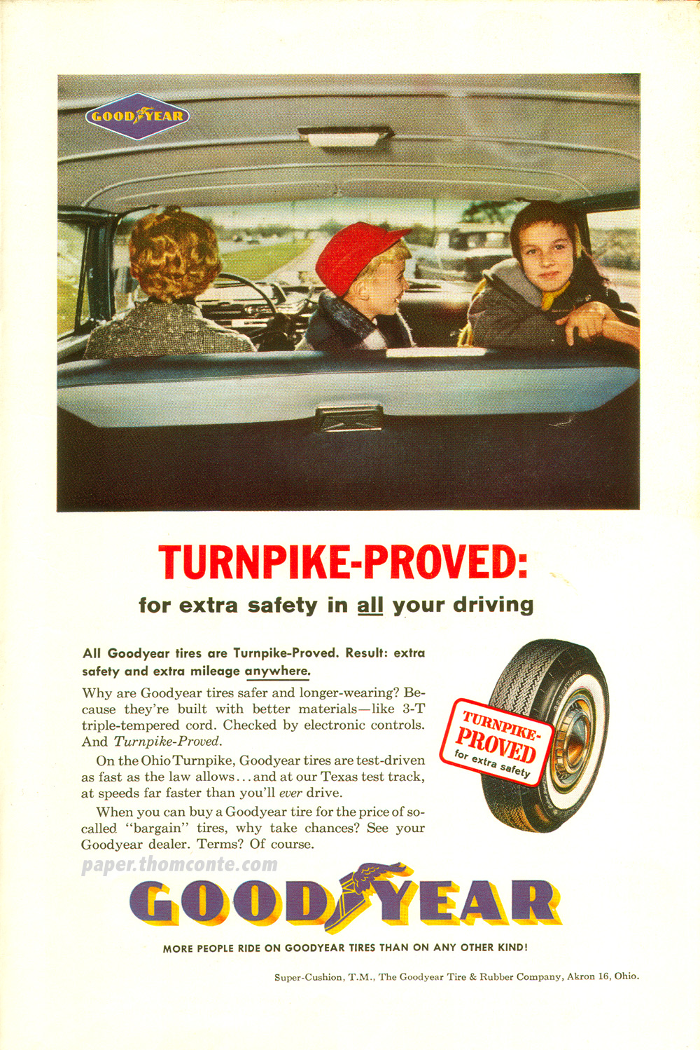 Goodyear Tires advertisement - Turnpike Proved