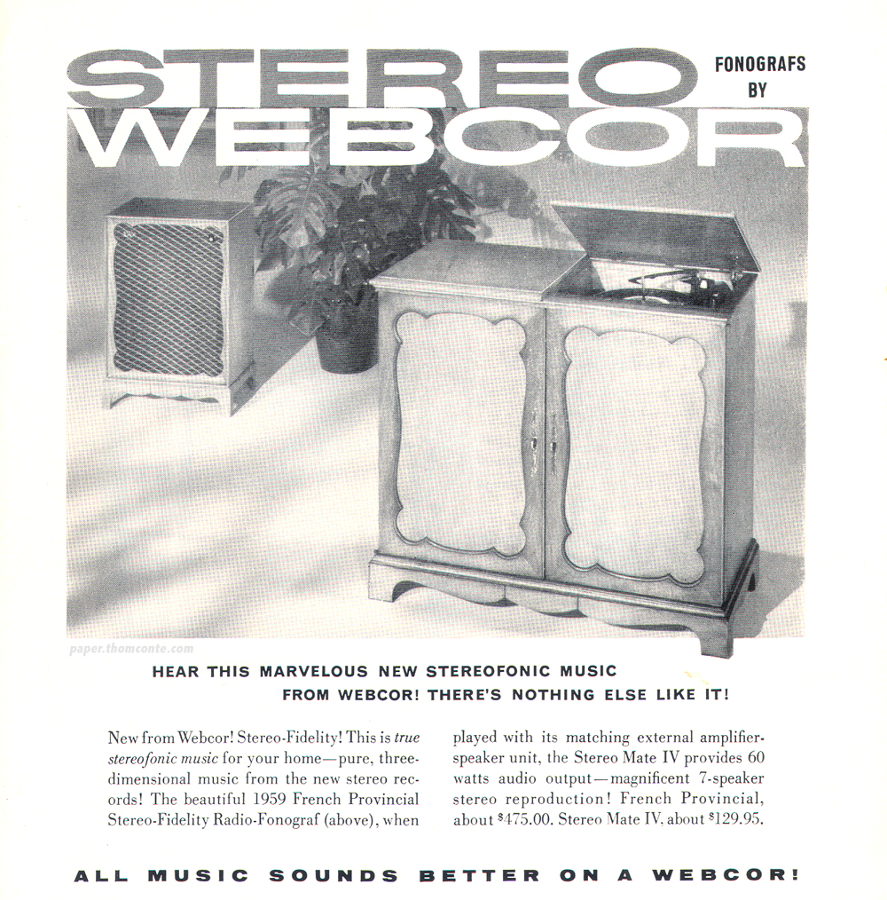 Webcore stereo advertisement