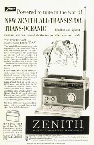 Zenith All-Transistor Trans-Oceanic Radio