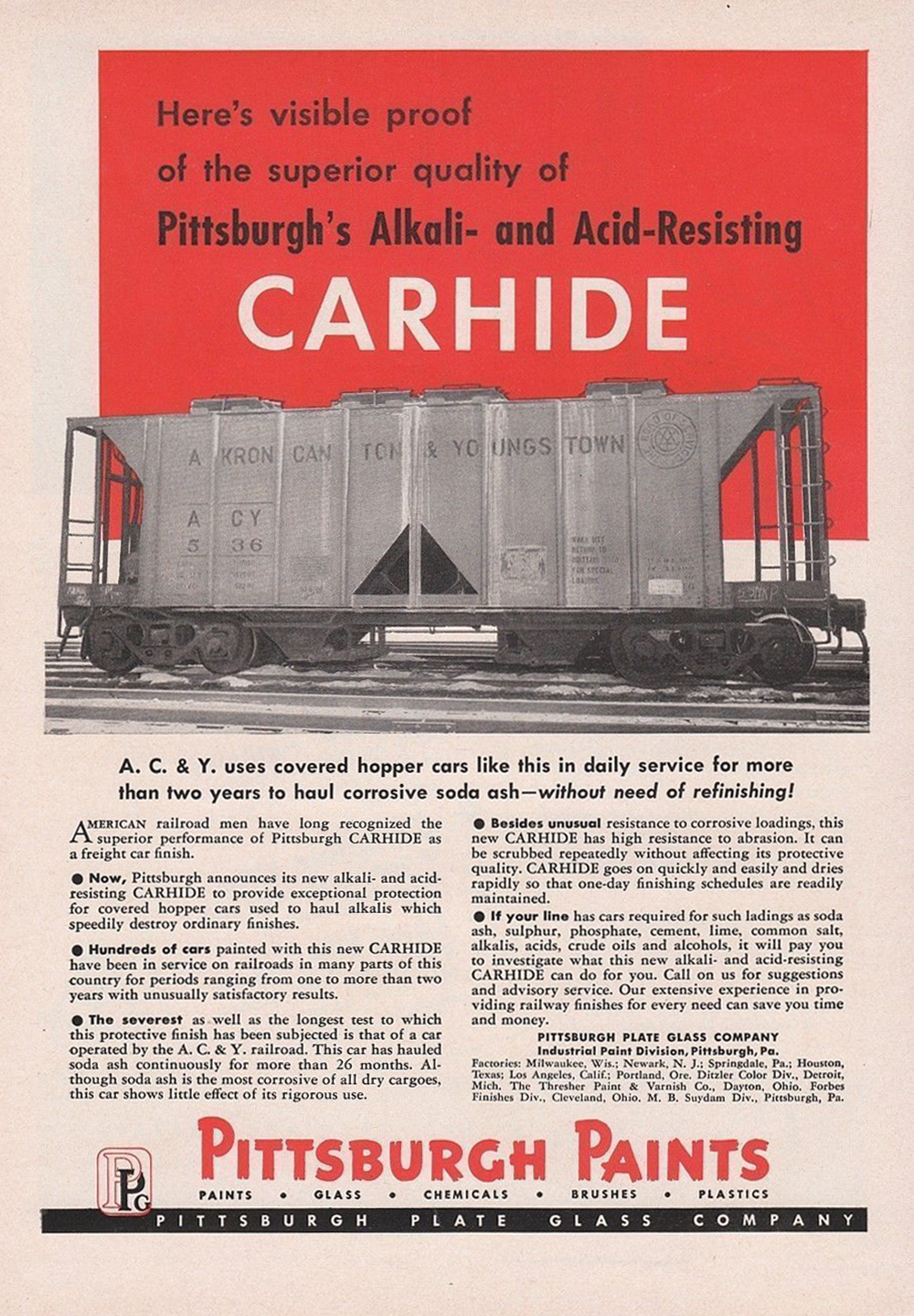 Carhide on the Akron Canton & Youngstown by PPG