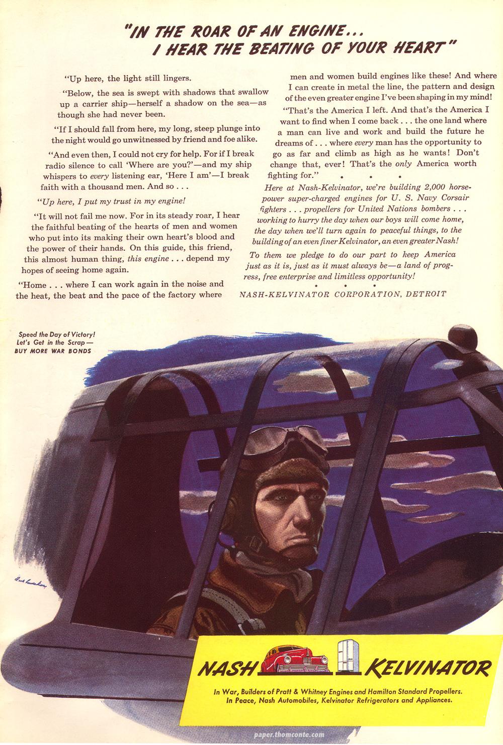 Nash Kelvinator war time advertisement