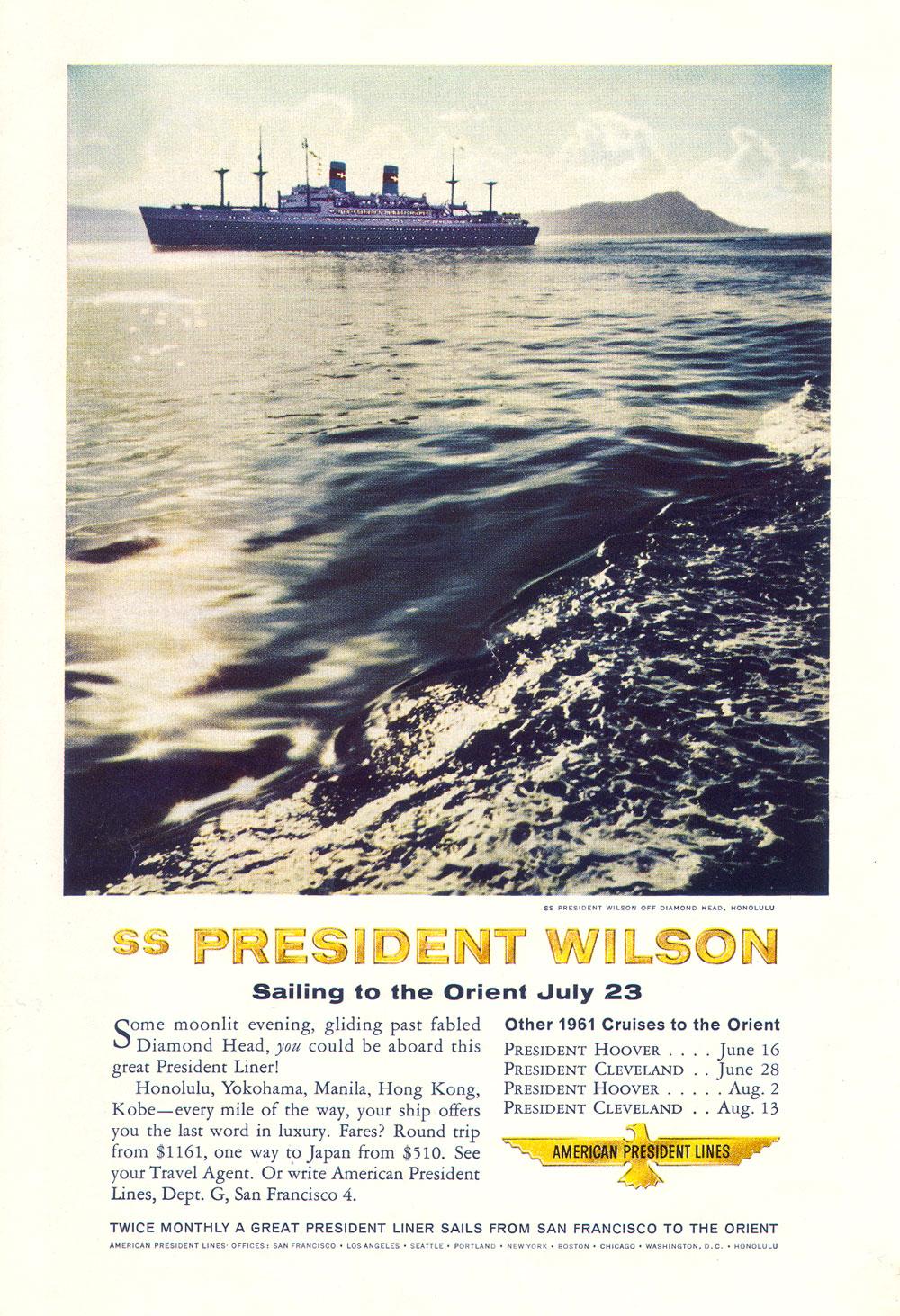 SS President Wilson - American President Lnes